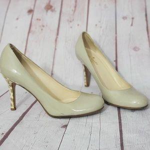 Kate Spade  Patten leather leopard heels 6.5